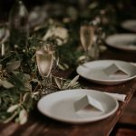 botanical wedding reception tables