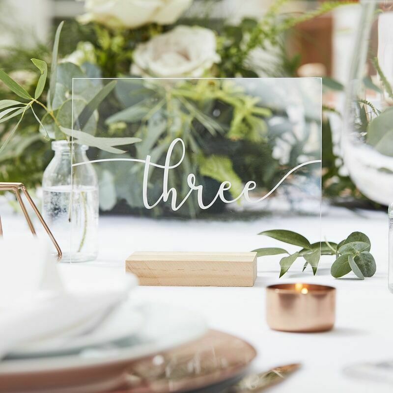 Acrylic Table Numbers 1-12
