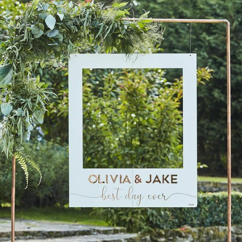 Customisable Wedding Photo Booth Frame