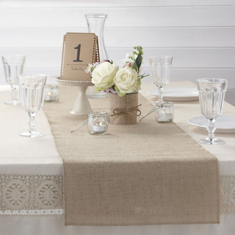Hessian Table Runner 2m